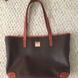 Brown Dooney & Bourke Pebble Leather